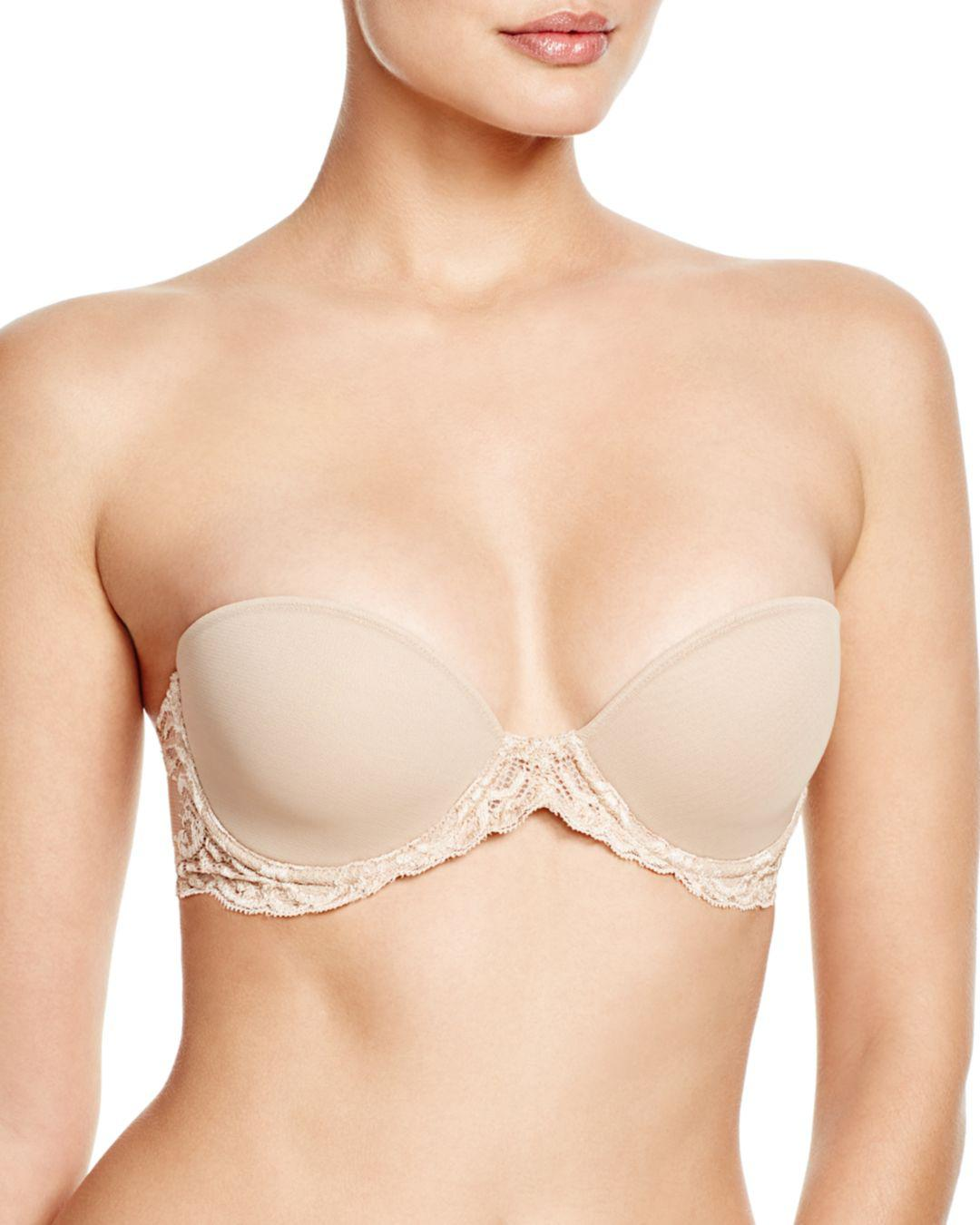 2e6ce59ff6 Natori Feathers Strapless Plunge Bra in Natural - Lyst