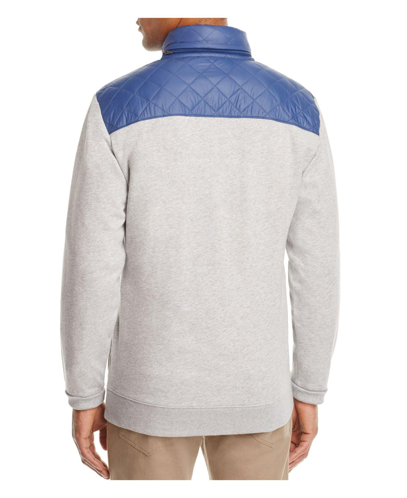 Lyst Vineyard Vines Quilted Shep Sweatshirt In Gray For Men