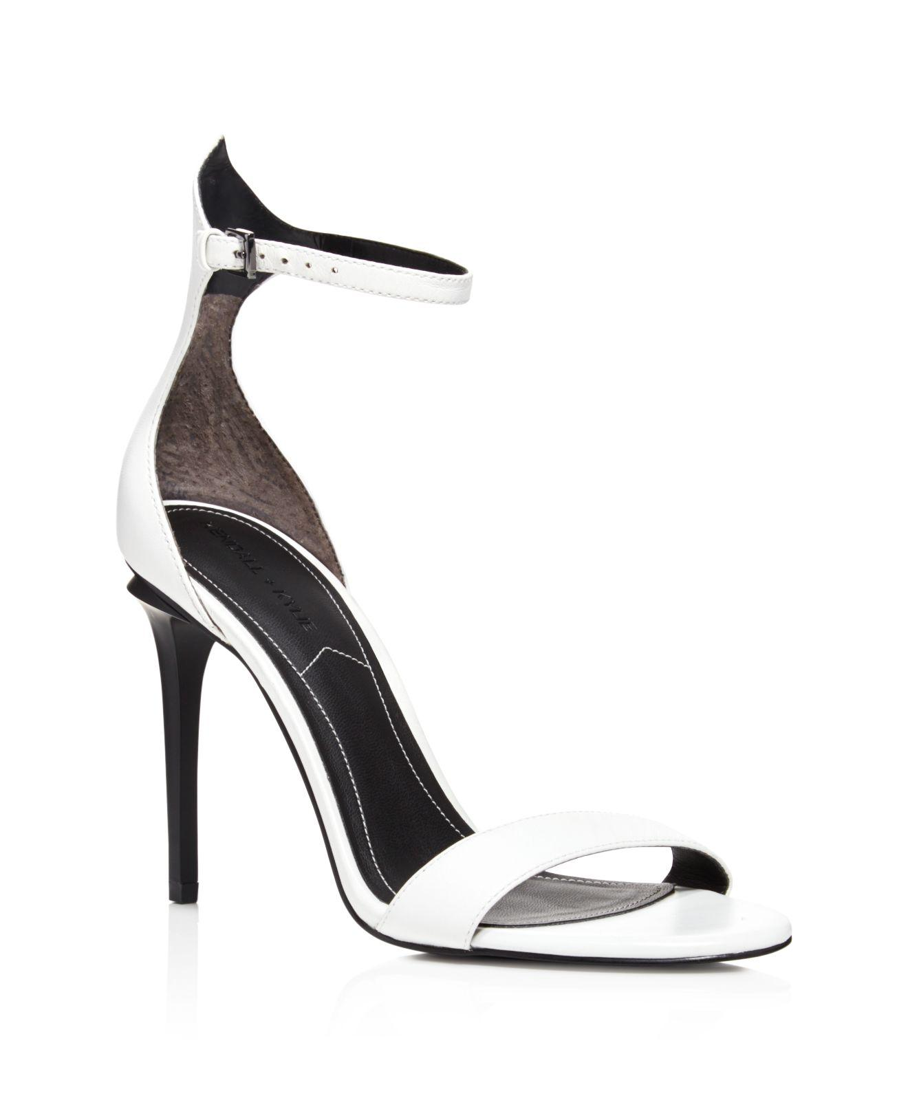 34dcc7c996c Lyst - Kendall + Kylie Elin Ankle Strap High Heel Sandals in White