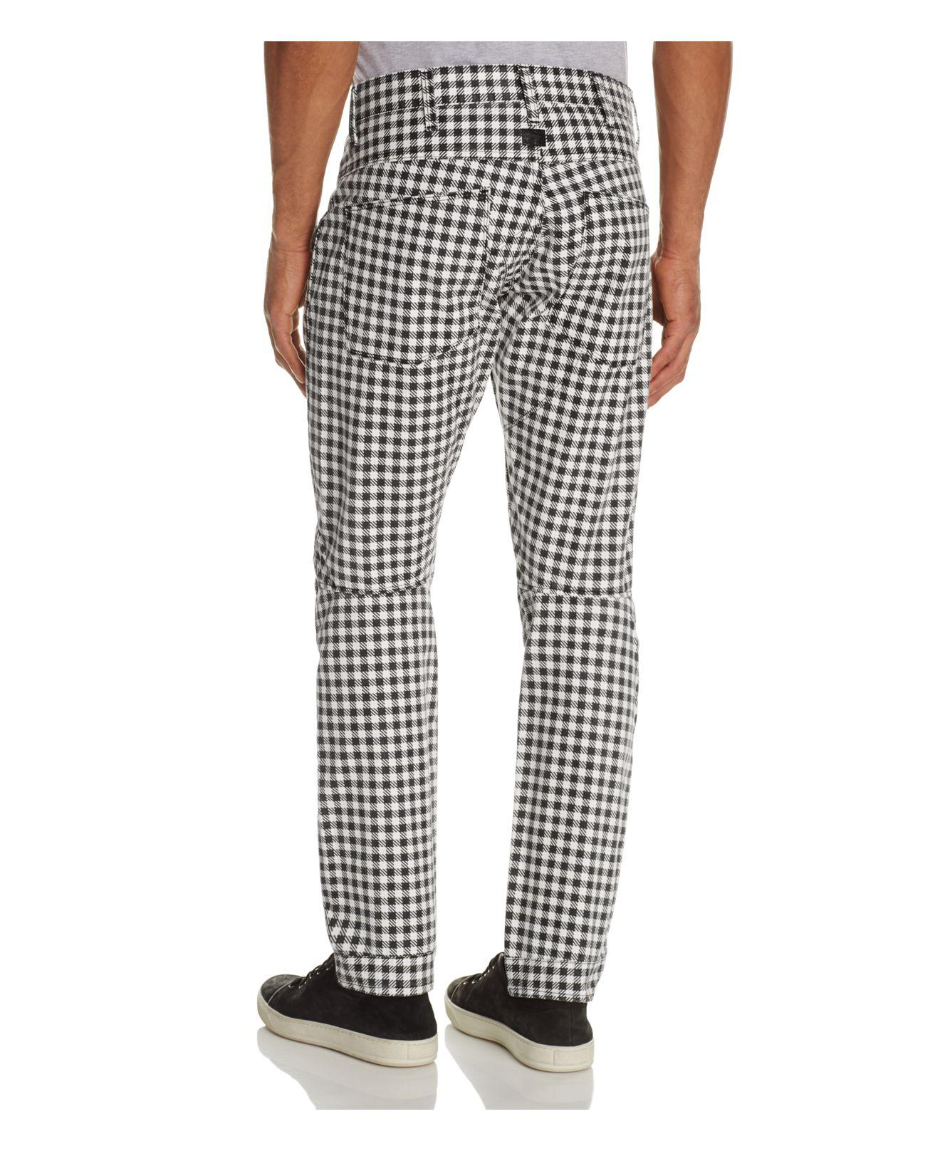 7cfb0cb96c7 G-Star RAW Elwood X25 Houndstooth Check New Tapered Fit Jeans By ...