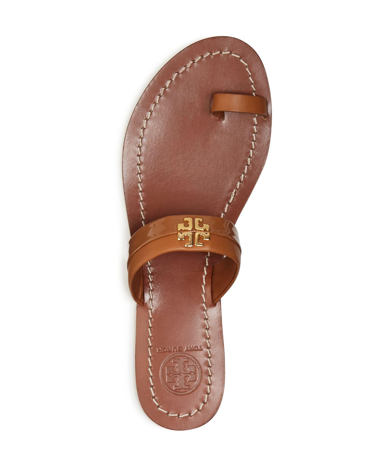 75a4af01e6c2 Lyst - Tory Burch Jolie Toe Ring Sandals in White