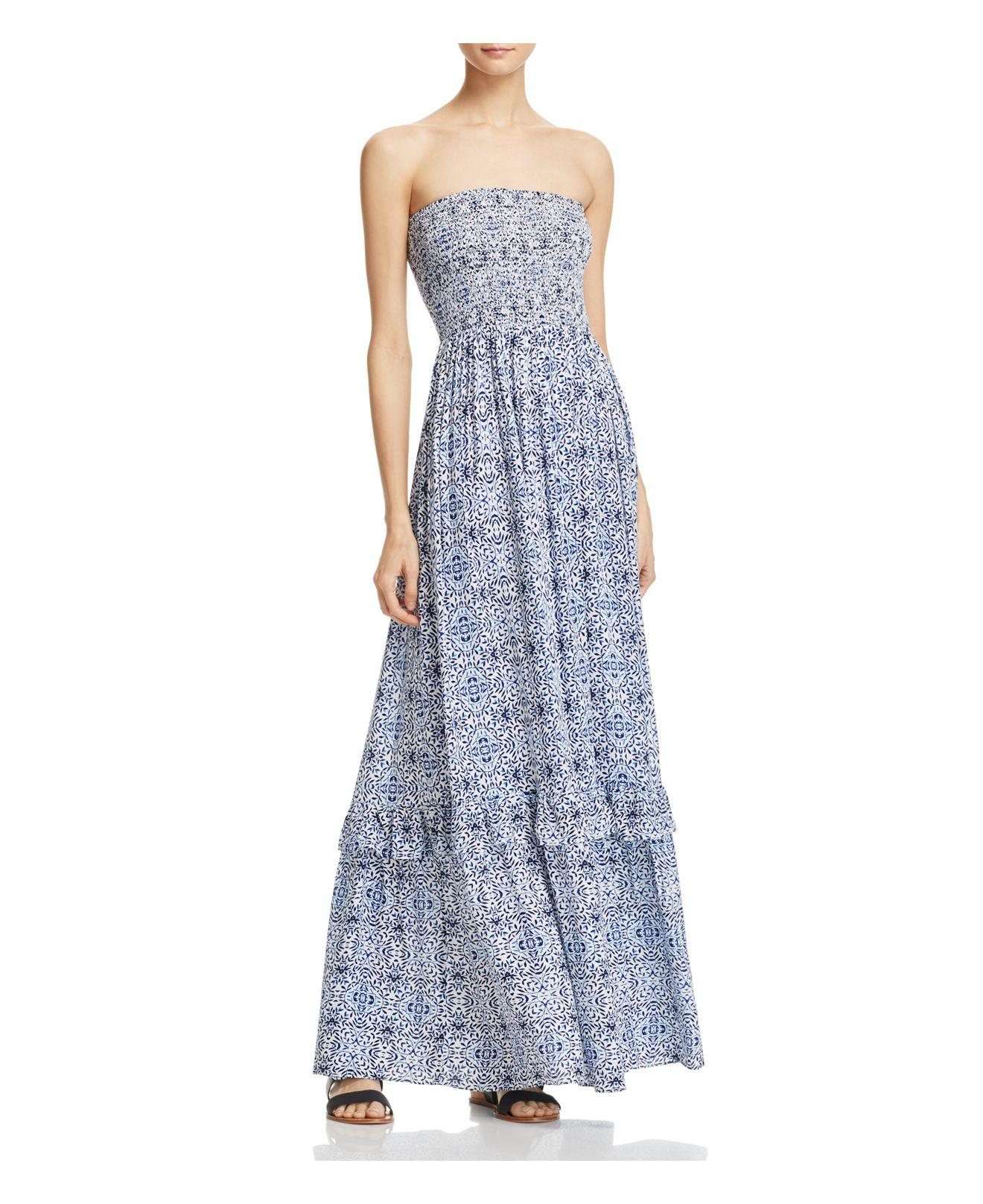 f854a5990a7c65 Lyst - Cooper   Ella Nina Strapless Maxi Dress in Blue