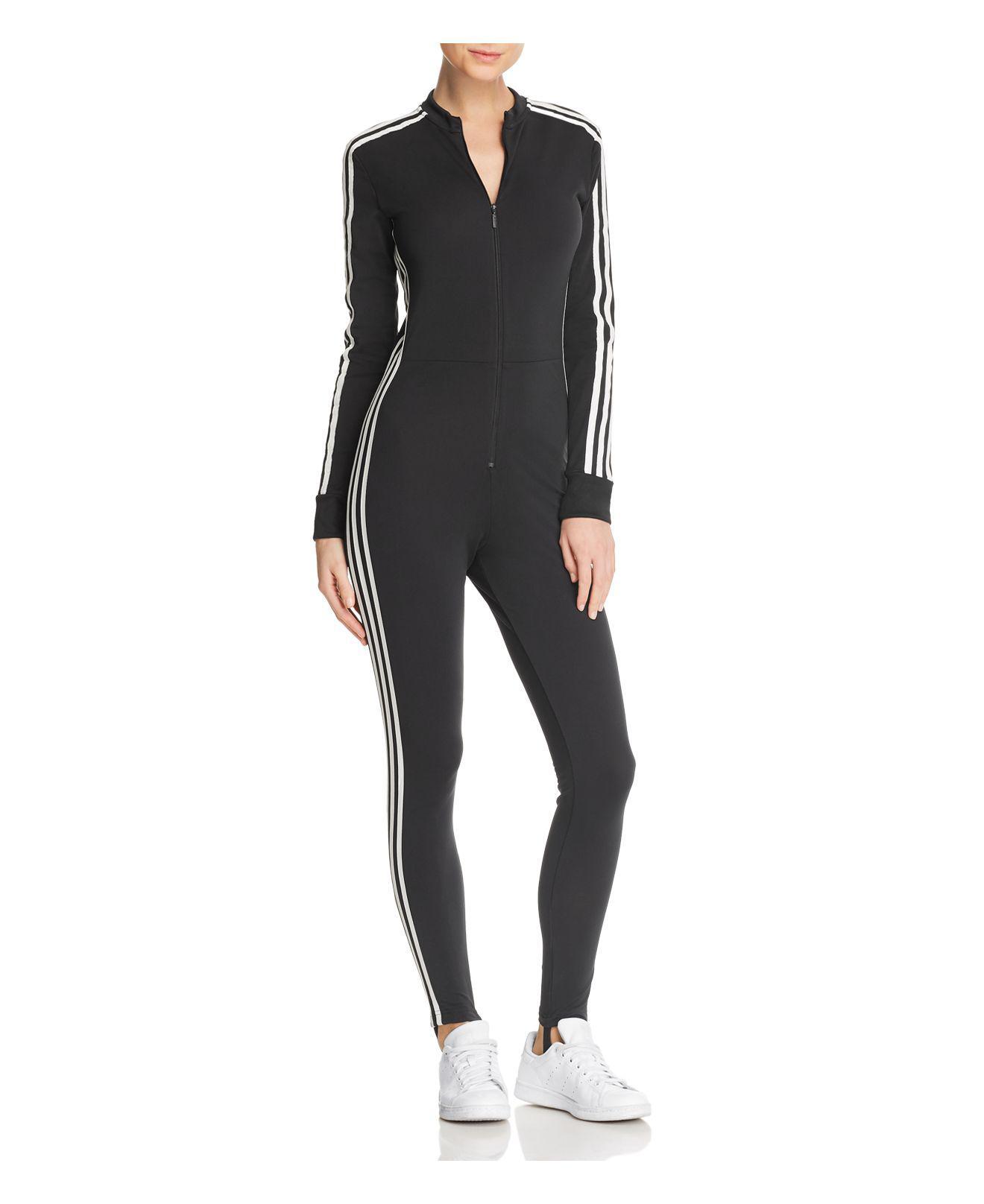 f50fa13c3e0 adidas Originals Adicolor Jumpsuit in Black - Lyst