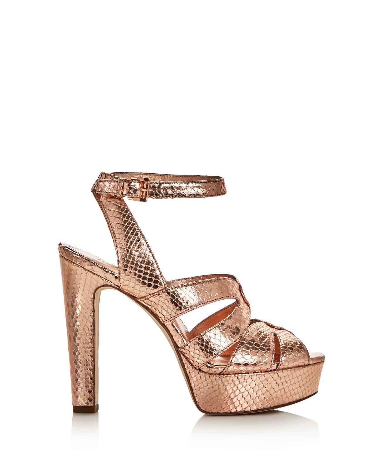 8c3e4d34e34a MICHAEL Michael Kors Winona Snake Embossed Metallic High Heel ...
