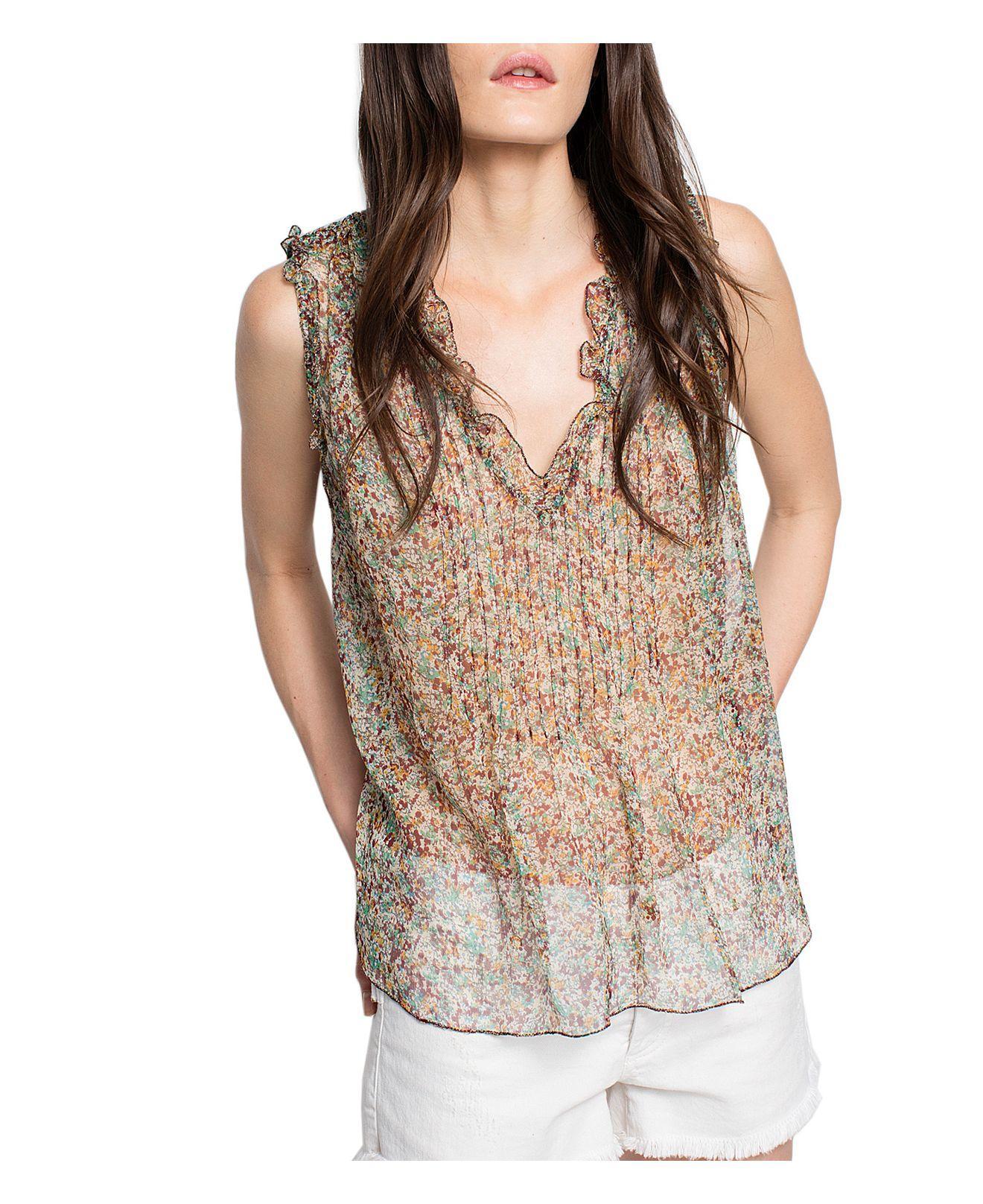 Womens Thym Floral Silk Chiffon Blouse Zadig & Voltaire Discount Sast Authentic Sale Online Discount Shop Offer 7PXDX