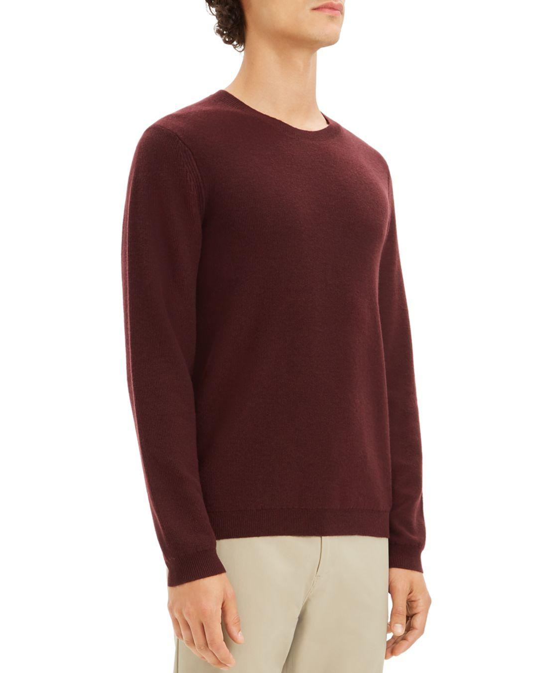 6c7d56179b9 Theory Valles Cashmere Pullover Sweater in Purple for Men - Lyst