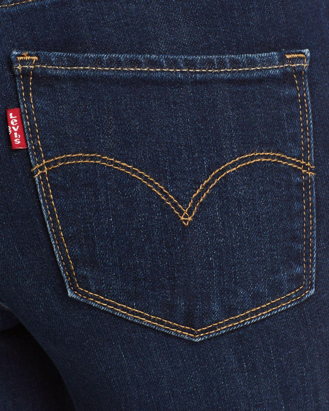 wholesale online release info on better Levi's Blue 721 High Rise Skinny Jeans In Rough Day