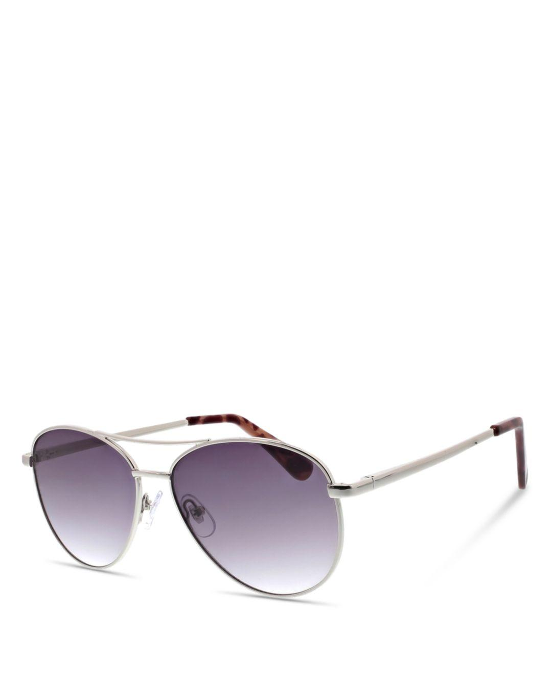 9dbfd9fff7f Lyst - BCBGeneration Women s Modern Aviator Sunglasses