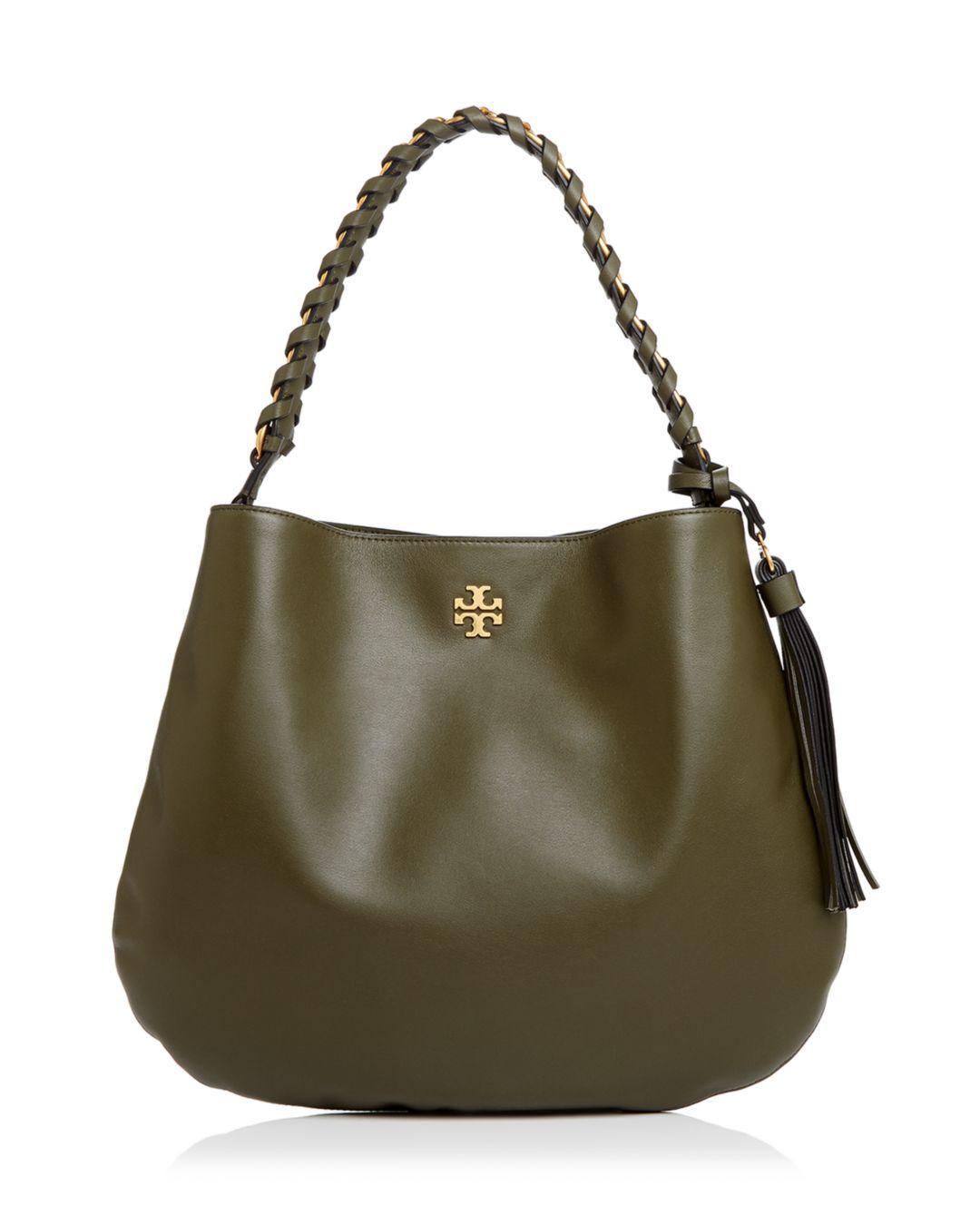 1d41bdc60ed Lyst - Tory Burch Brooke Leather Hobo