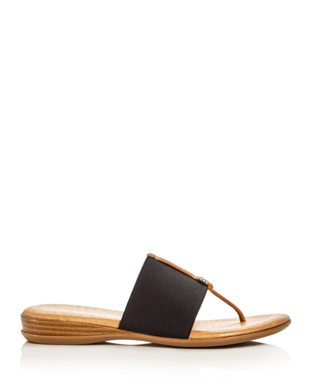 bf68c261c9c4 Lyst - Andre Assous Nice Thong Sandals in Black