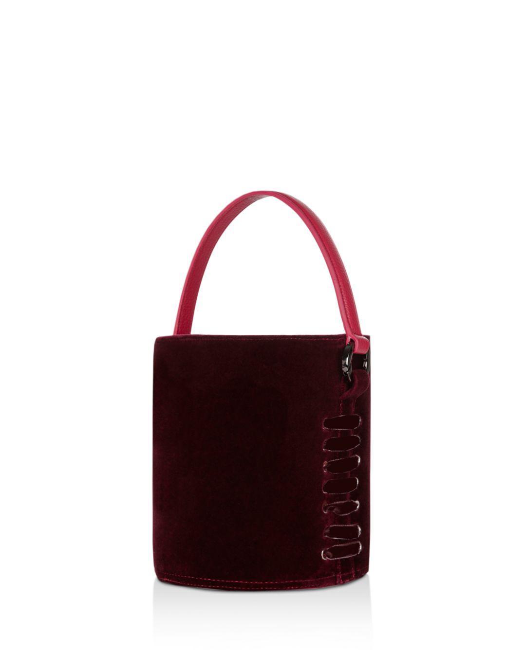 meli melo Santina Mini Velvet Bucket Bag - Lyst 4fbe2b60d65d4