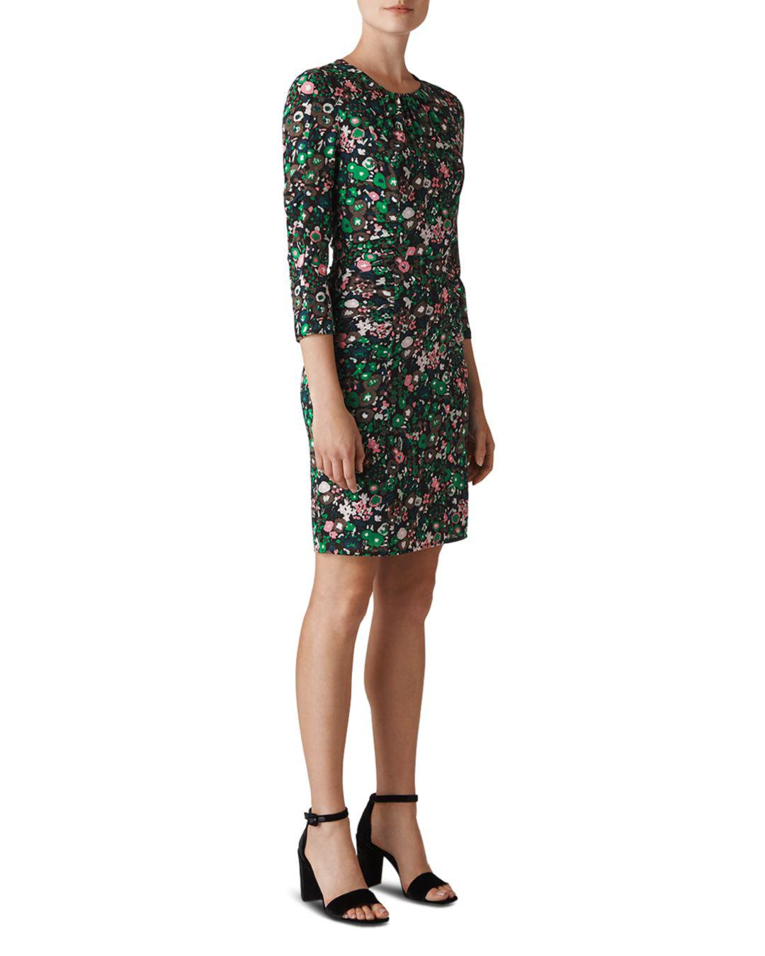 3c3c74e9b94f34 Lyst - Whistles Adelaide Ruched Floral Dress