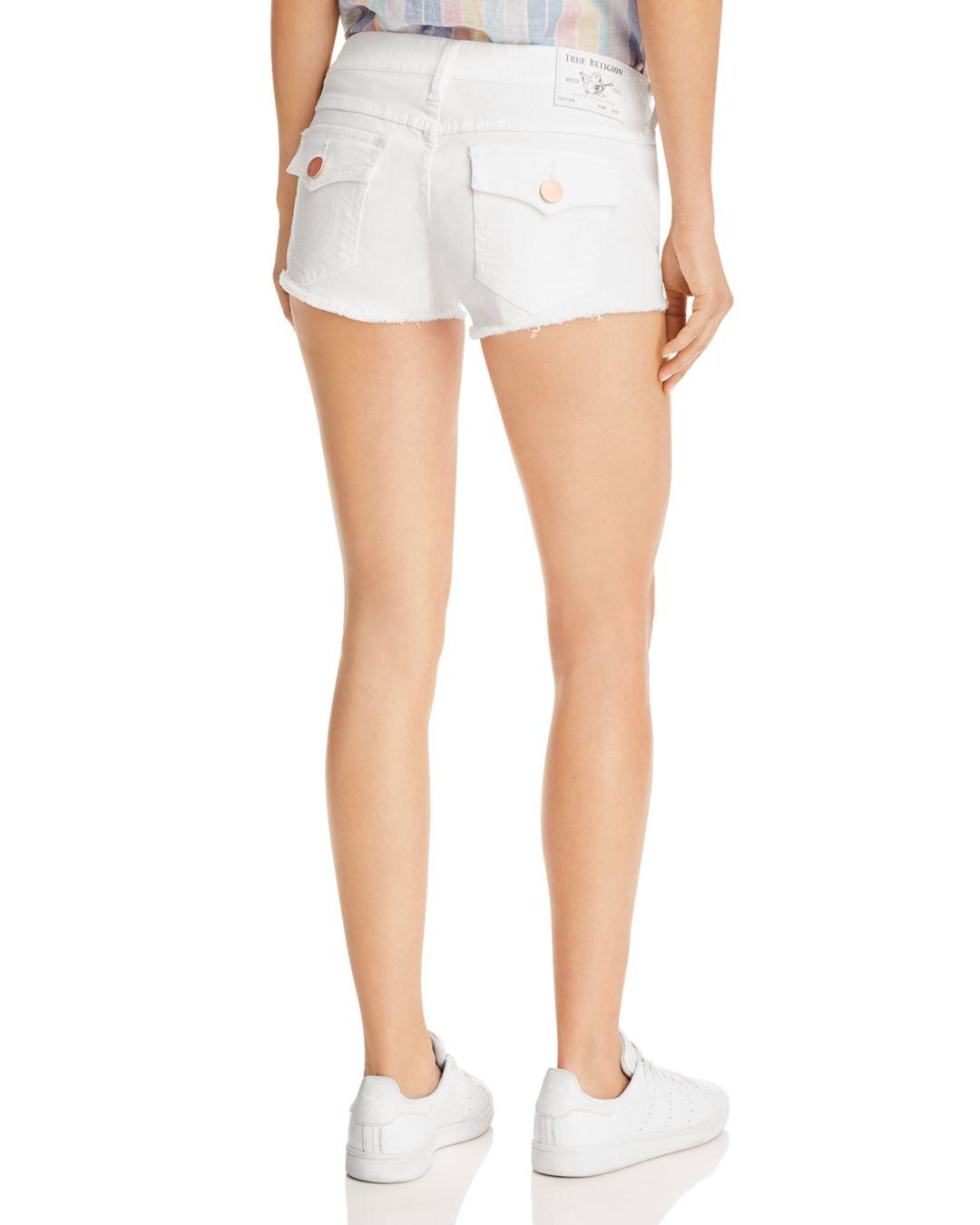 dbf0c68f6210c True Religion Joey Low-rise Denim Shorts In White in White - Lyst