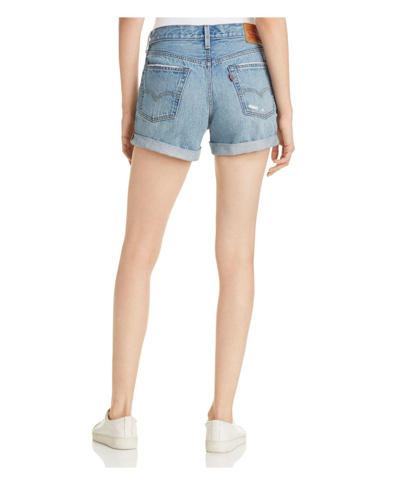 b239f7d0 Levi's 501® Cuffed Shorts In Highway Blues in Blue - Lyst