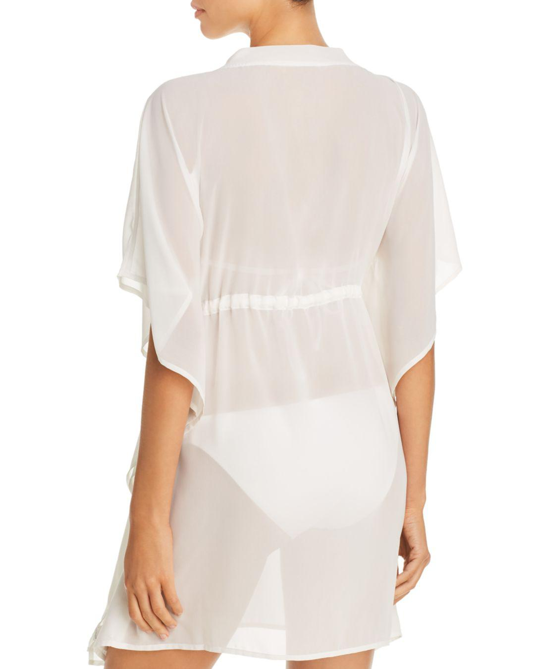b24ad18183cfc Lyst - Echo Solid Classic Butterfly Swim Cover-up in White