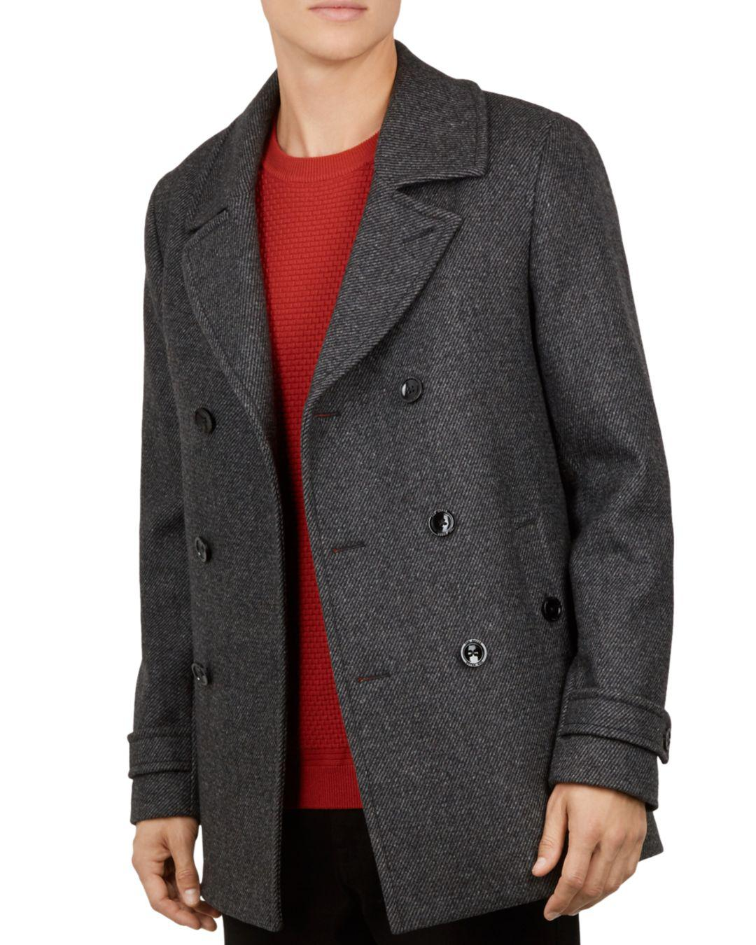 f05e59d2fd37e8 Lyst - Ted Baker Grilld Core Peacoat in Gray for Men