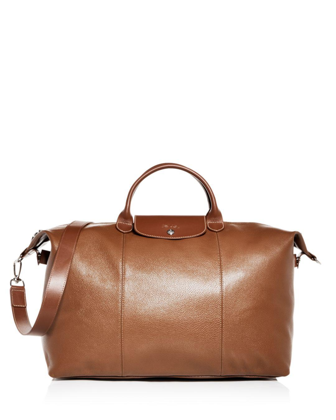 Lyst - Longchamp Le Foulonné Leather Duffel Bag in Brown for Men c8bb50ee2f7af