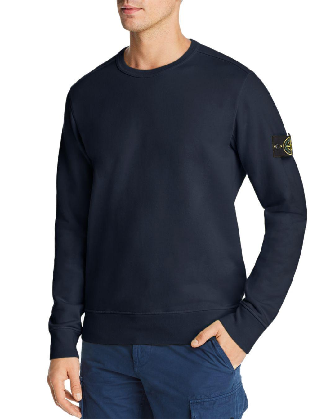 ed508ffa Lyst - Stone Island Logo-patch Sweatshirt in Blue for Men - Save 36%