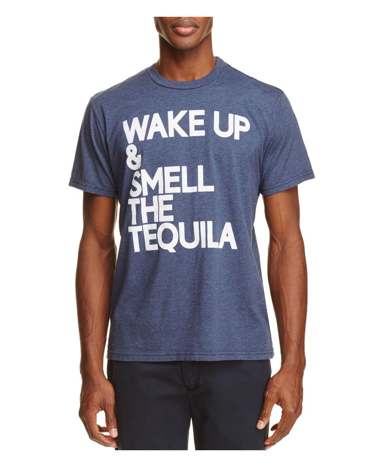 cc36e395 Lyst - Chaser Wake Up Tequila Graphic Tee in Blue for Men