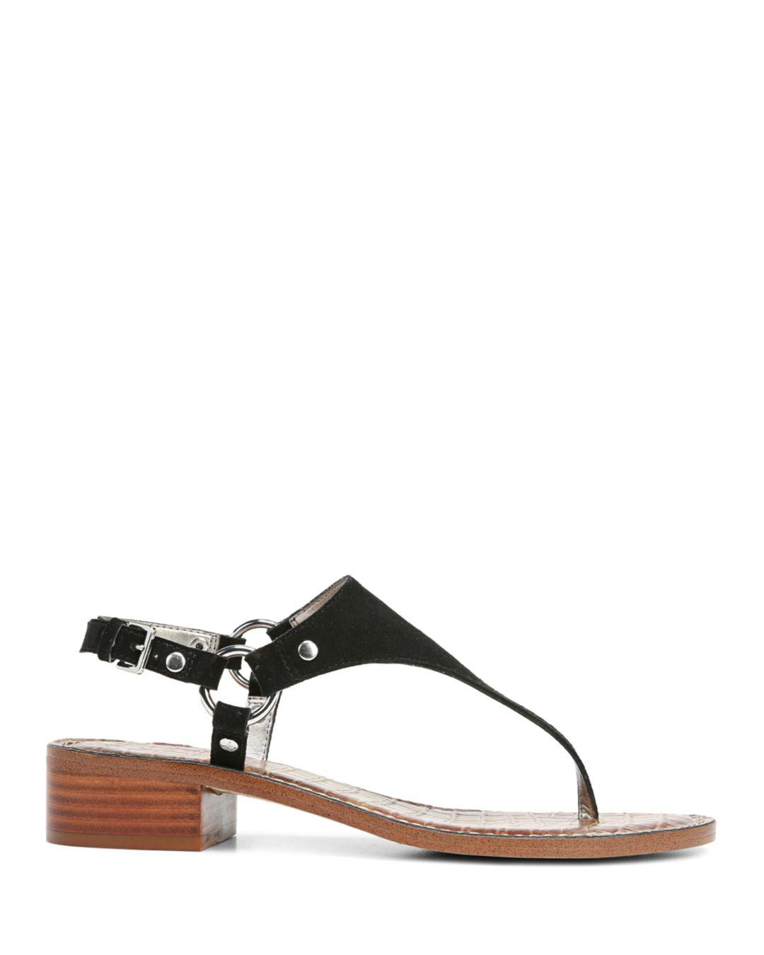 3687195a7b73 Lyst - Sam Edelman Women s Jude Suede Thong Sandals in Black