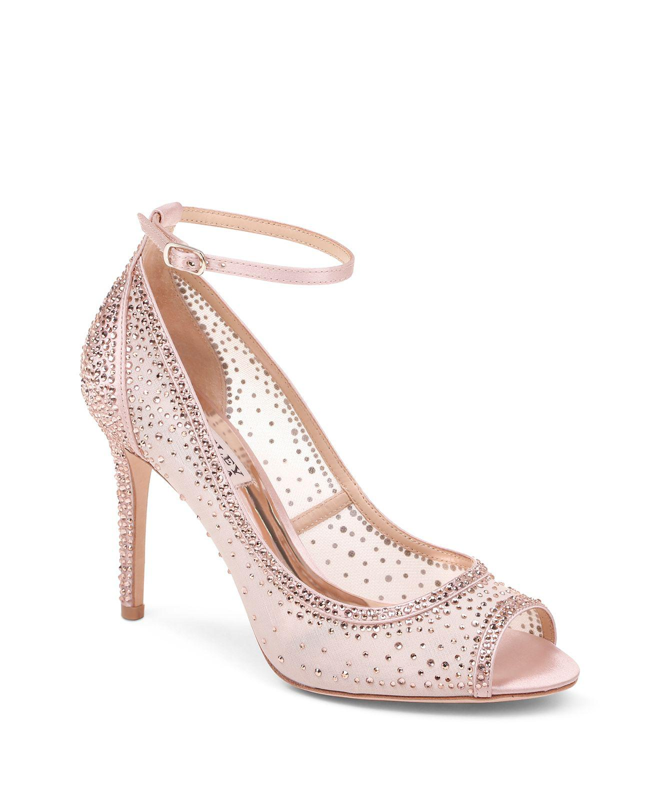 prices cheap price discount low price fee shipping Badgley Mischka Mesh Peep-Toe Pumps looking for online 6rmhFHx7