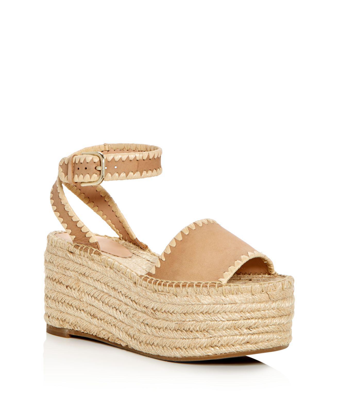 Pour La Victoire Women's Ria Suede & Raffia Espadrille Platform Wedge Sandals jHkJ8W0rL