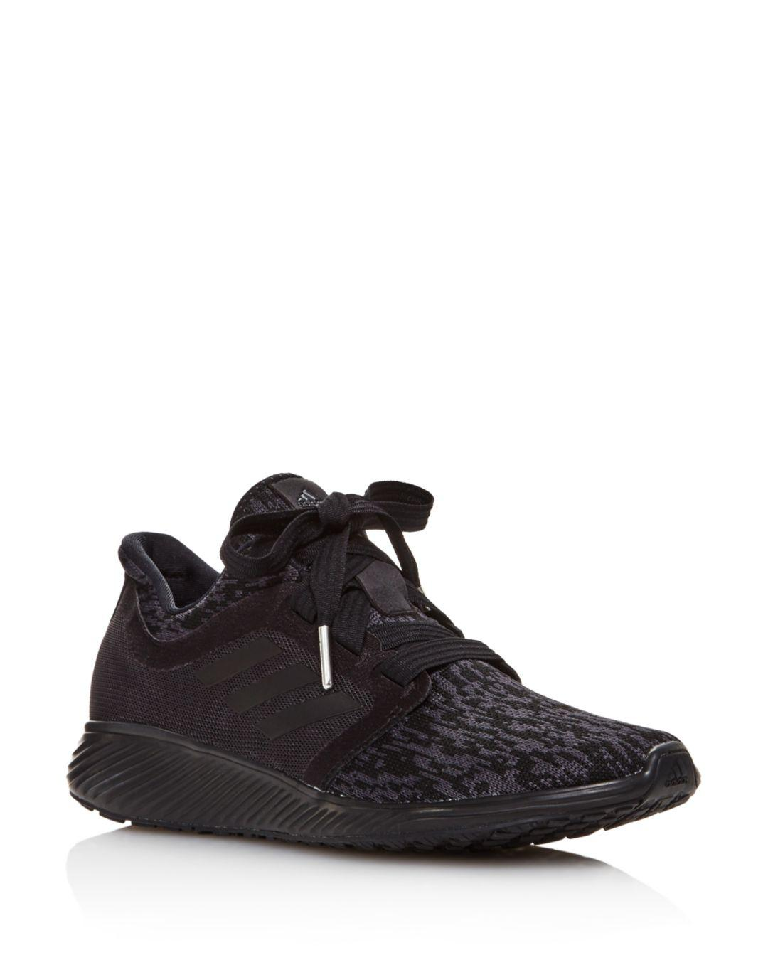 8104e9db357 Lyst - adidas Women s Edge Lux 3 Knit Athletic Sneakers in Black
