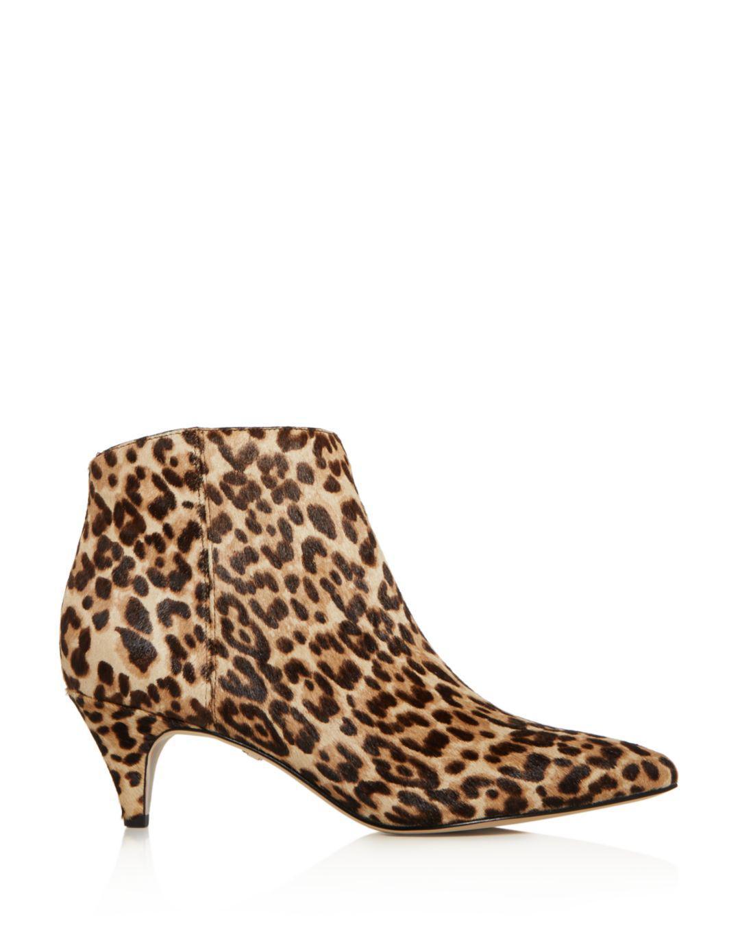 478dd11d4 Lyst - Sam Edelman Women s Kinzey Leopard Print Calf Hair Kitten ...