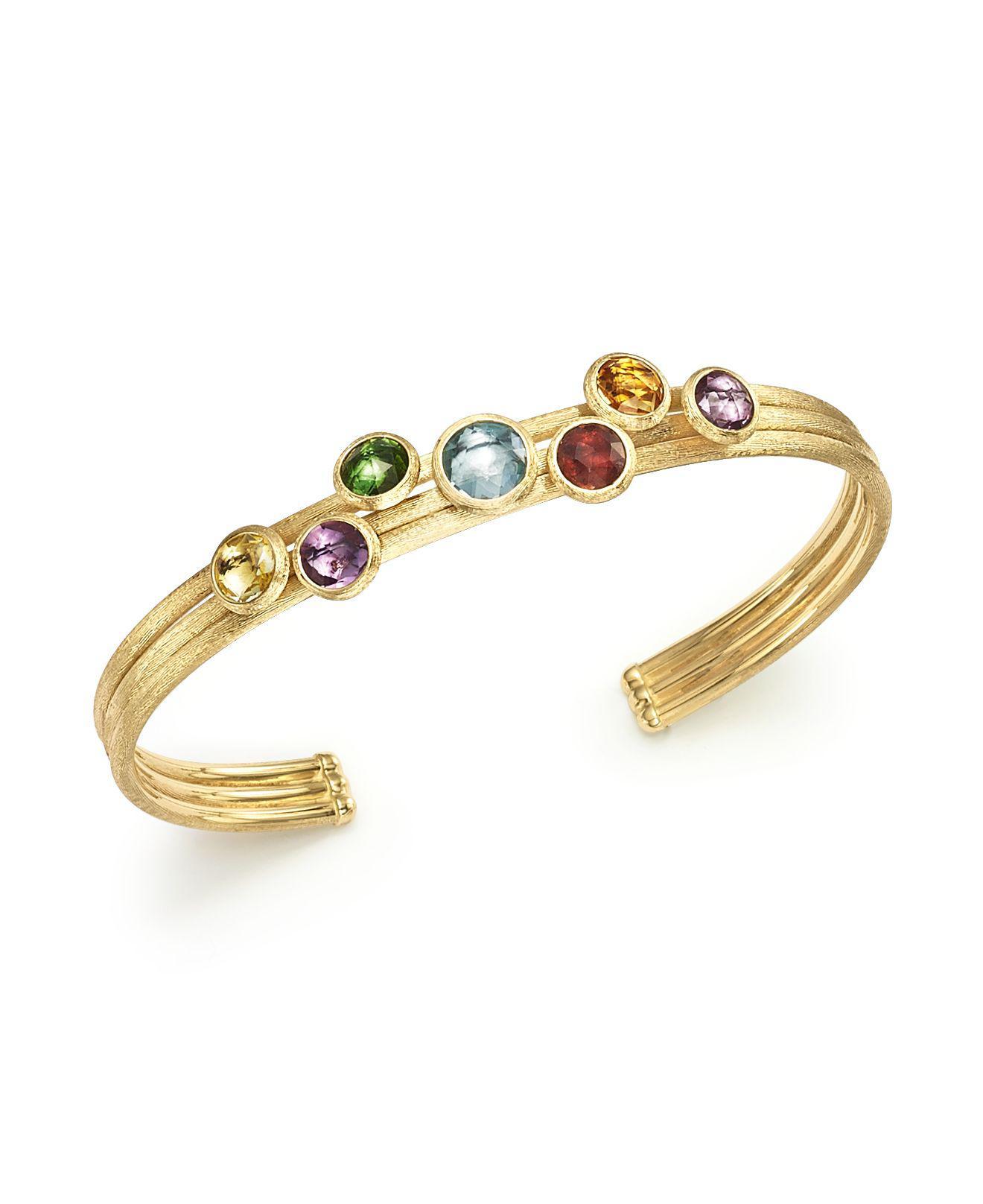 Marco Bicego Jaipur 18K Multi-Stone Cuff Bracelet qFm5c