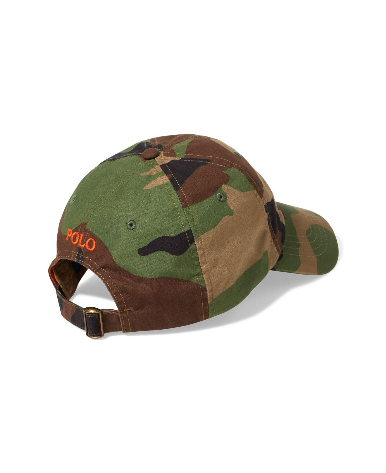 73b380af204 Lyst - Polo Ralph Lauren Camouflage Classic Baseball Hat in Green ...