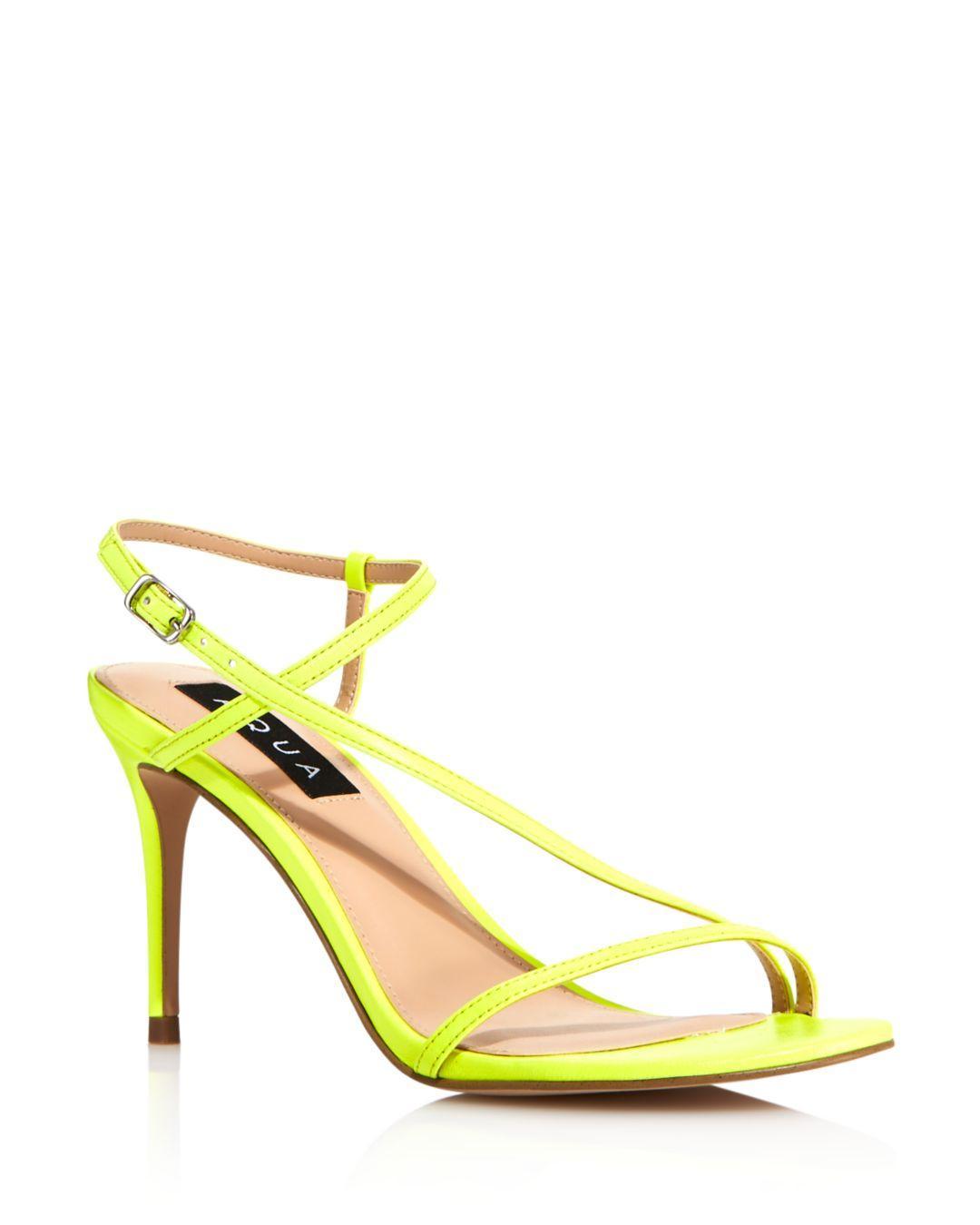 b2570bec8b9 Lyst - Aqua Women s Ron High-heel Sandals in Yellow