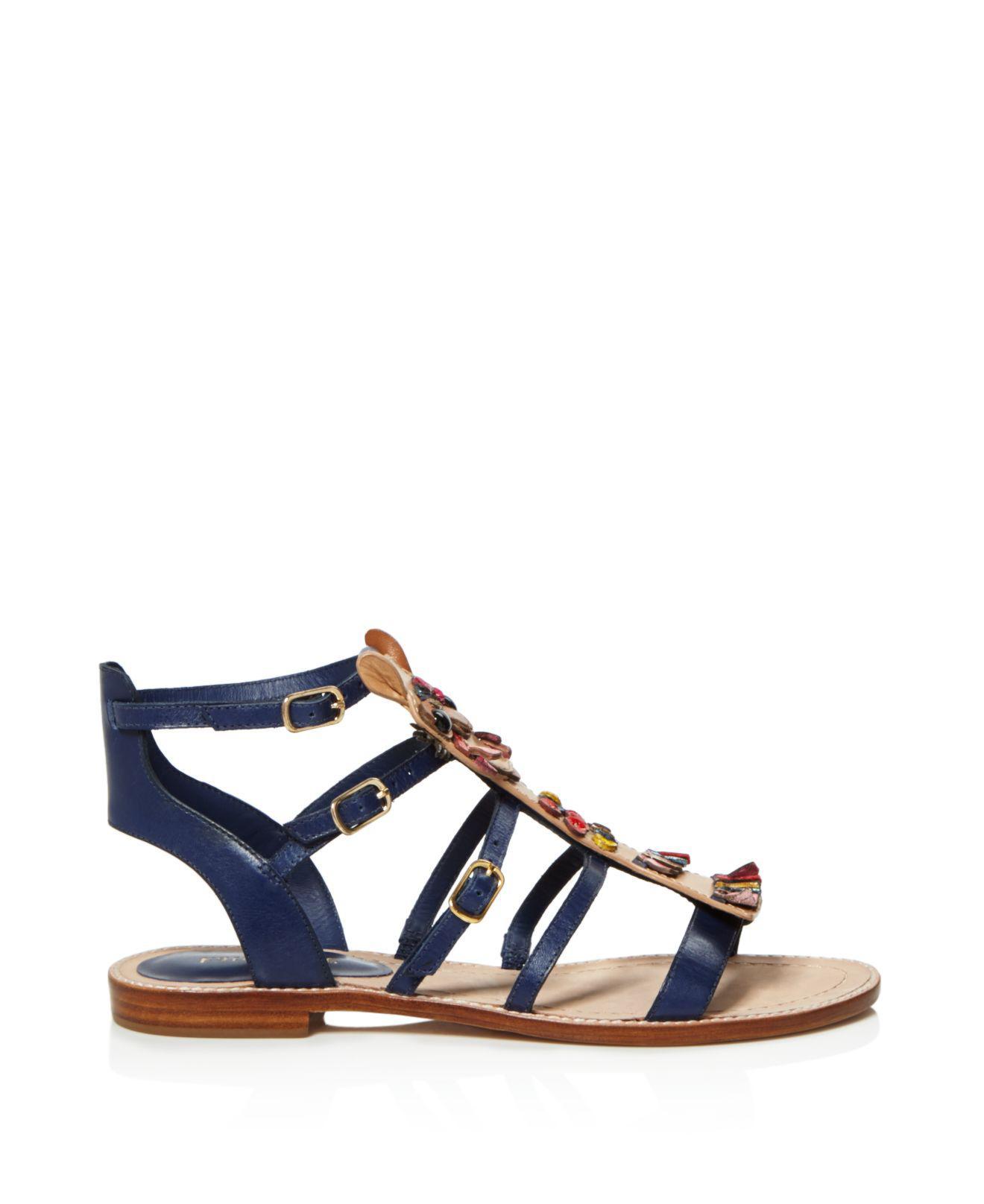 ada7fe0dc33e3 Lyst - Kate Spade Sahara Strappy Sandals in Blue