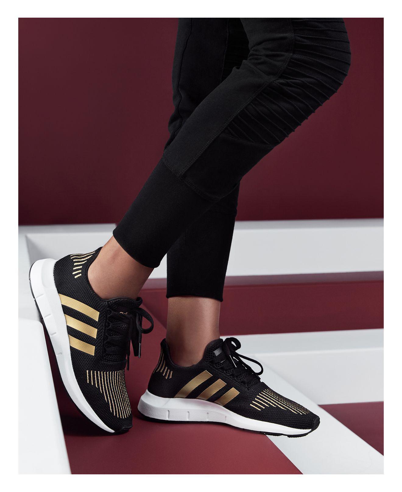 Lyst - adidas Women s Swift Run Sneakers in Metallic 59e564be99
