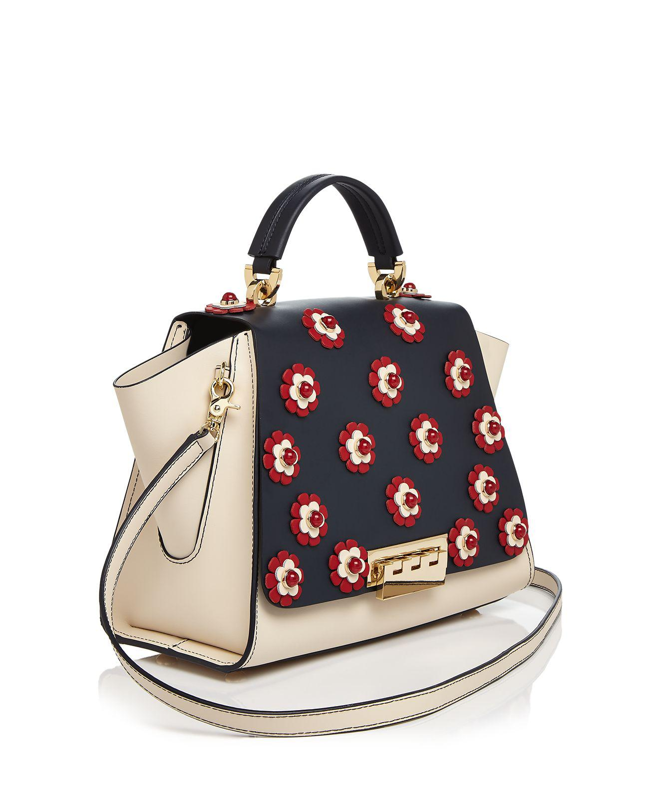 Zac Zac Posen Eartha Iconic Floral Soft Top Handle Leather