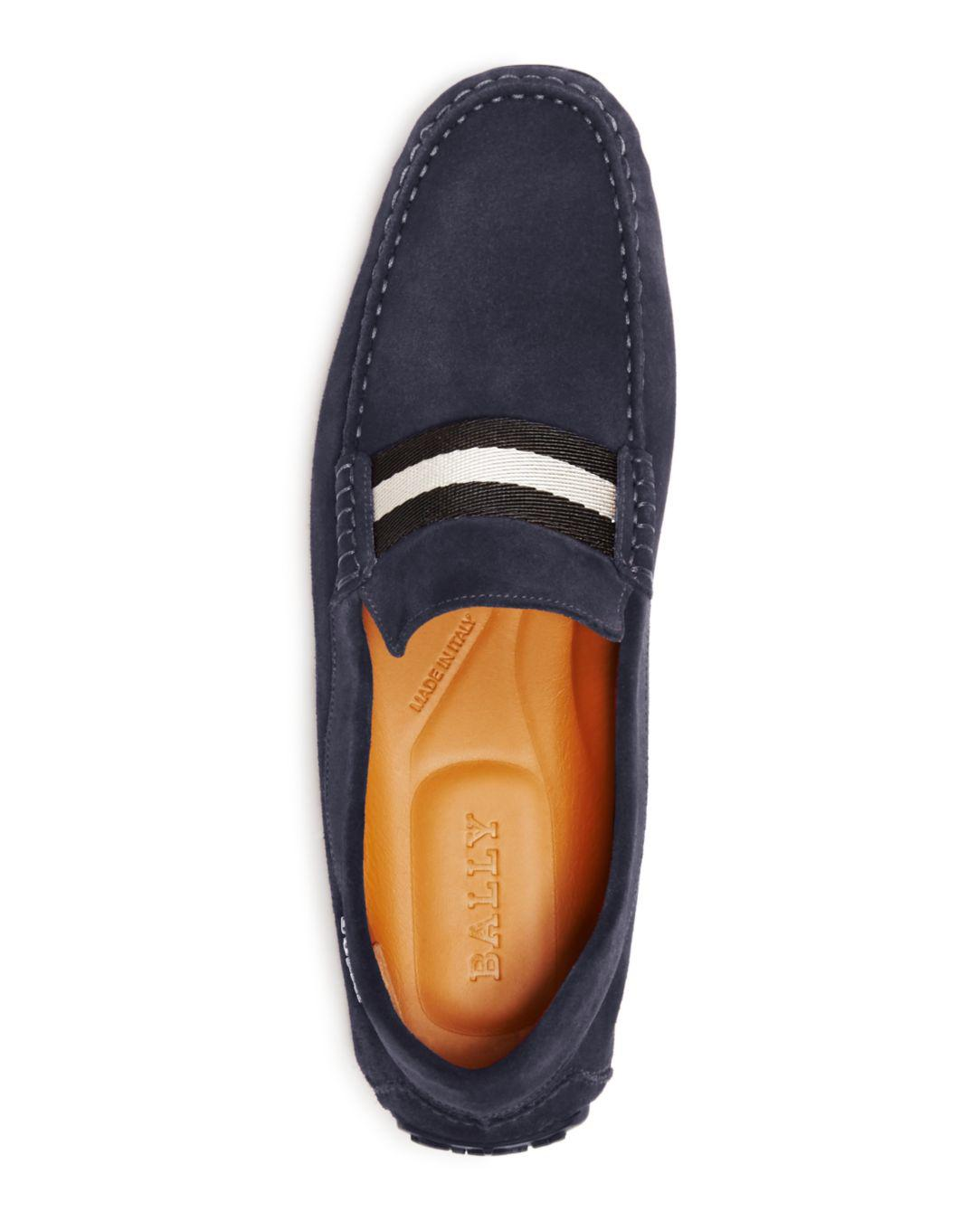 1f5799c887d Lyst - Bally Men s Pearce Suede Drivers in Blue for Men