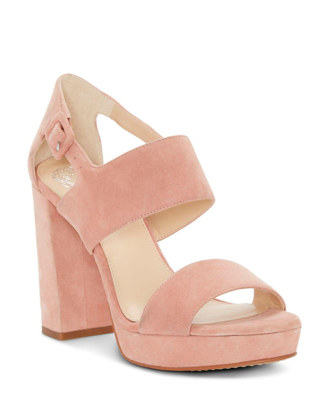 e1b682b07ac Lyst - Vince Camuto Women s Jayvid Suede Platform Sandals in Pink ...