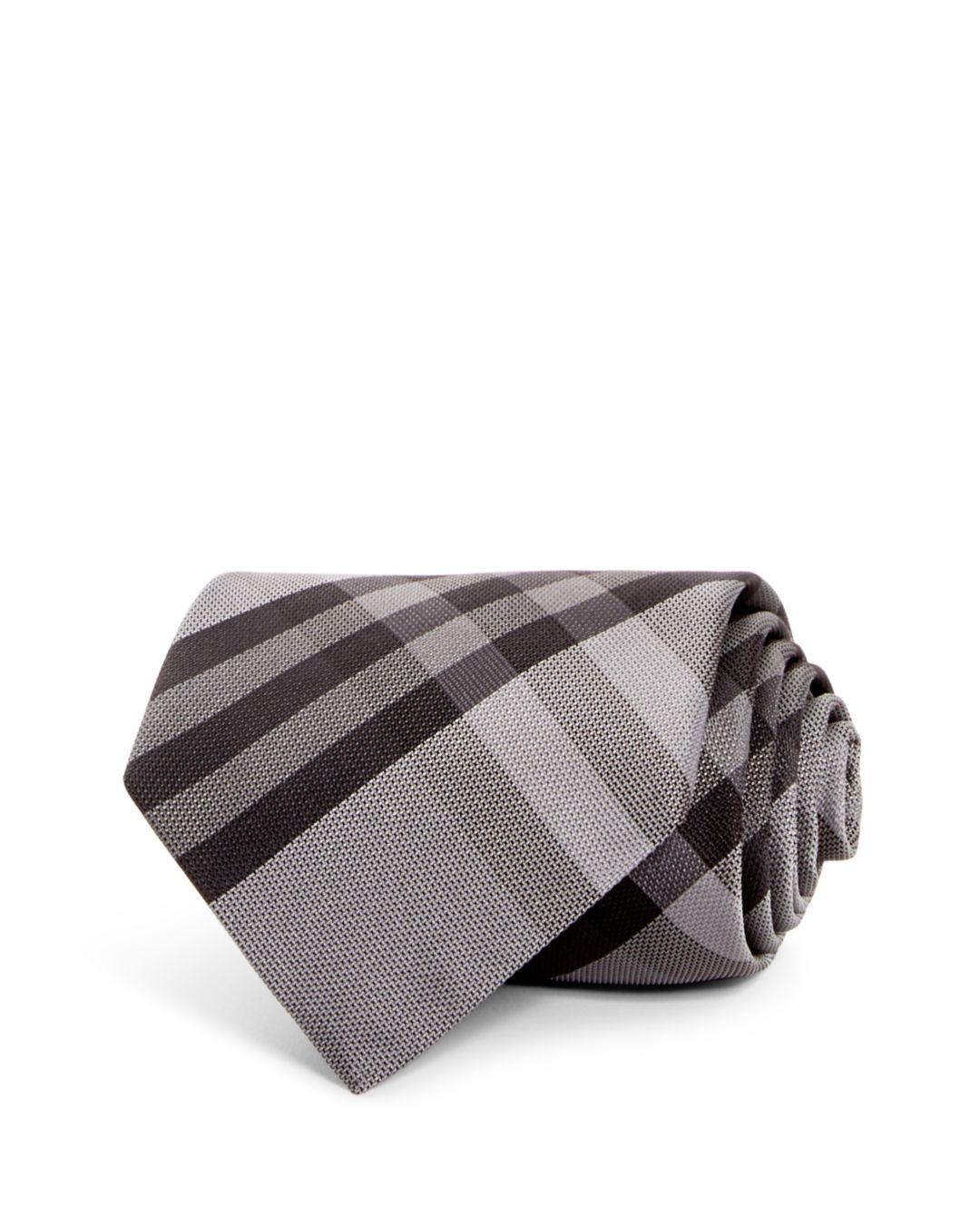 8976ea54cfb6 Burberry Clinton Check Classic Tie in Gray for Men - Lyst