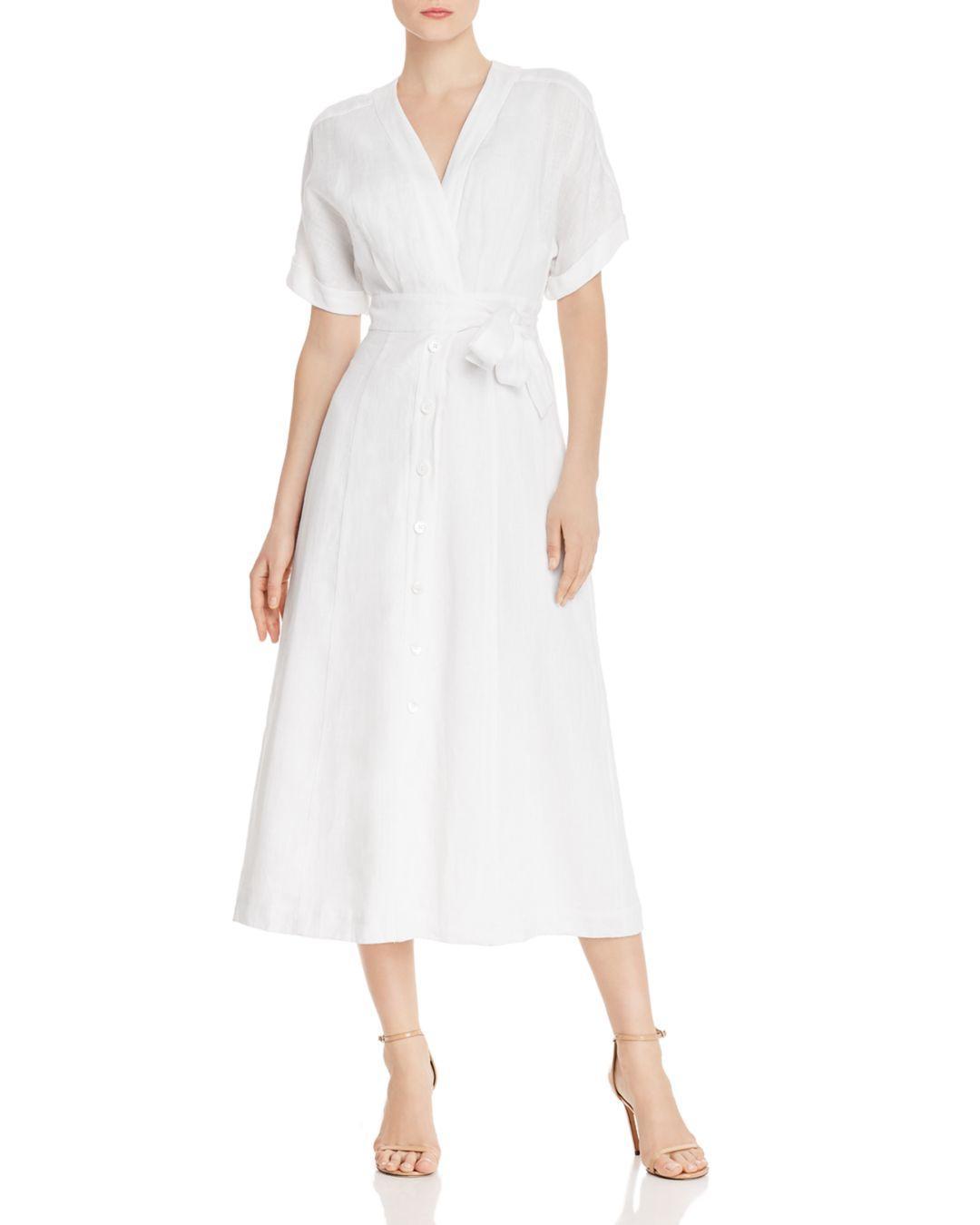 0d7588ab3c Lyst - Equipment Nauman Linen Maxi Dress in White