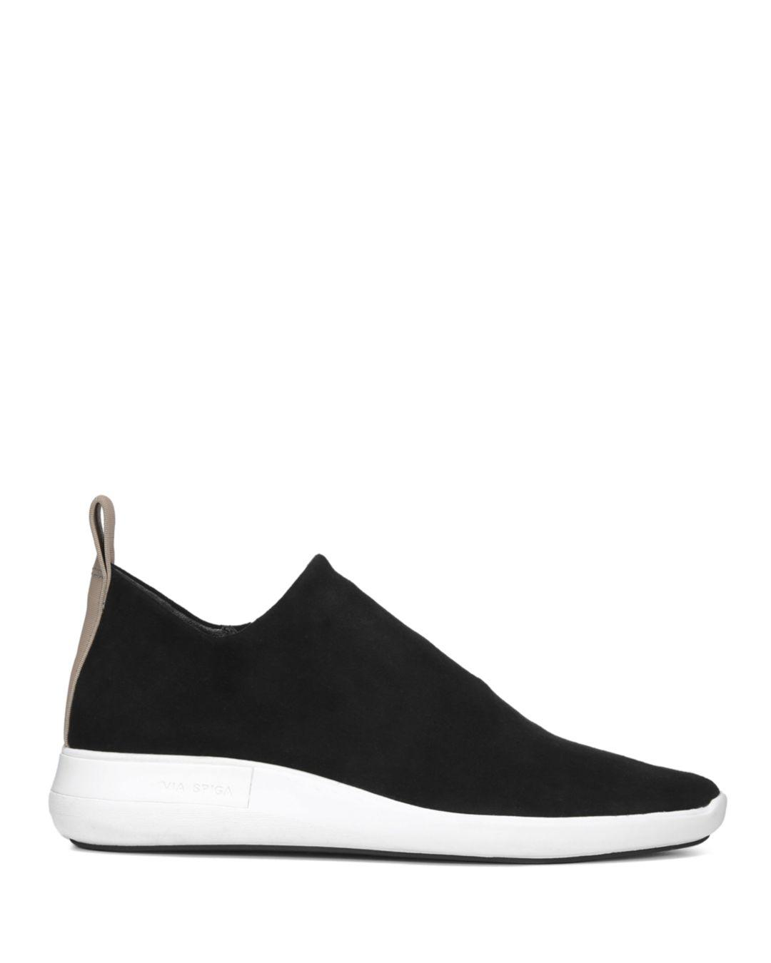 fdefc3097cc1 Lyst - Via Spiga Women s Marlow Suede Slip-on Sneakers in Black
