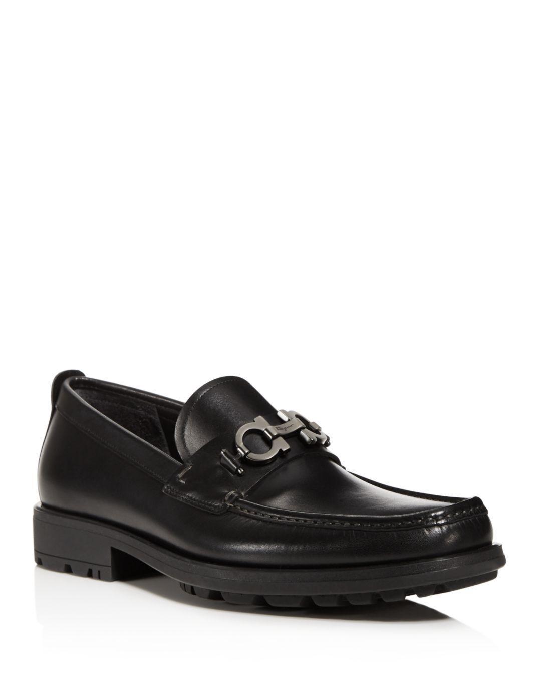 938df9eedbc Lyst - Ferragamo David Leather Loafers in Black for Men