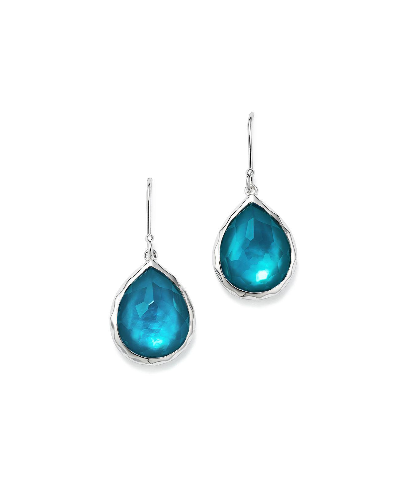 Ippolita Sterling Silver Wonderland Teardrop Earrings kTWMYa8CB