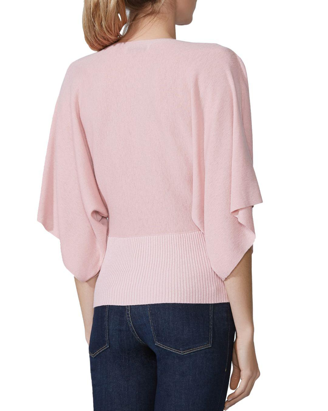 13929865d0 Lyst - Bailey 44 Eye In The Sky Faux-wrap Sweater in Pink
