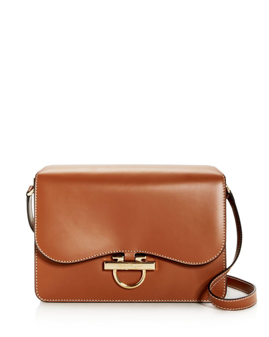 0e1ee48322be Lyst - Ferragamo Joanne Classic Leather Shoulder Bag in Brown