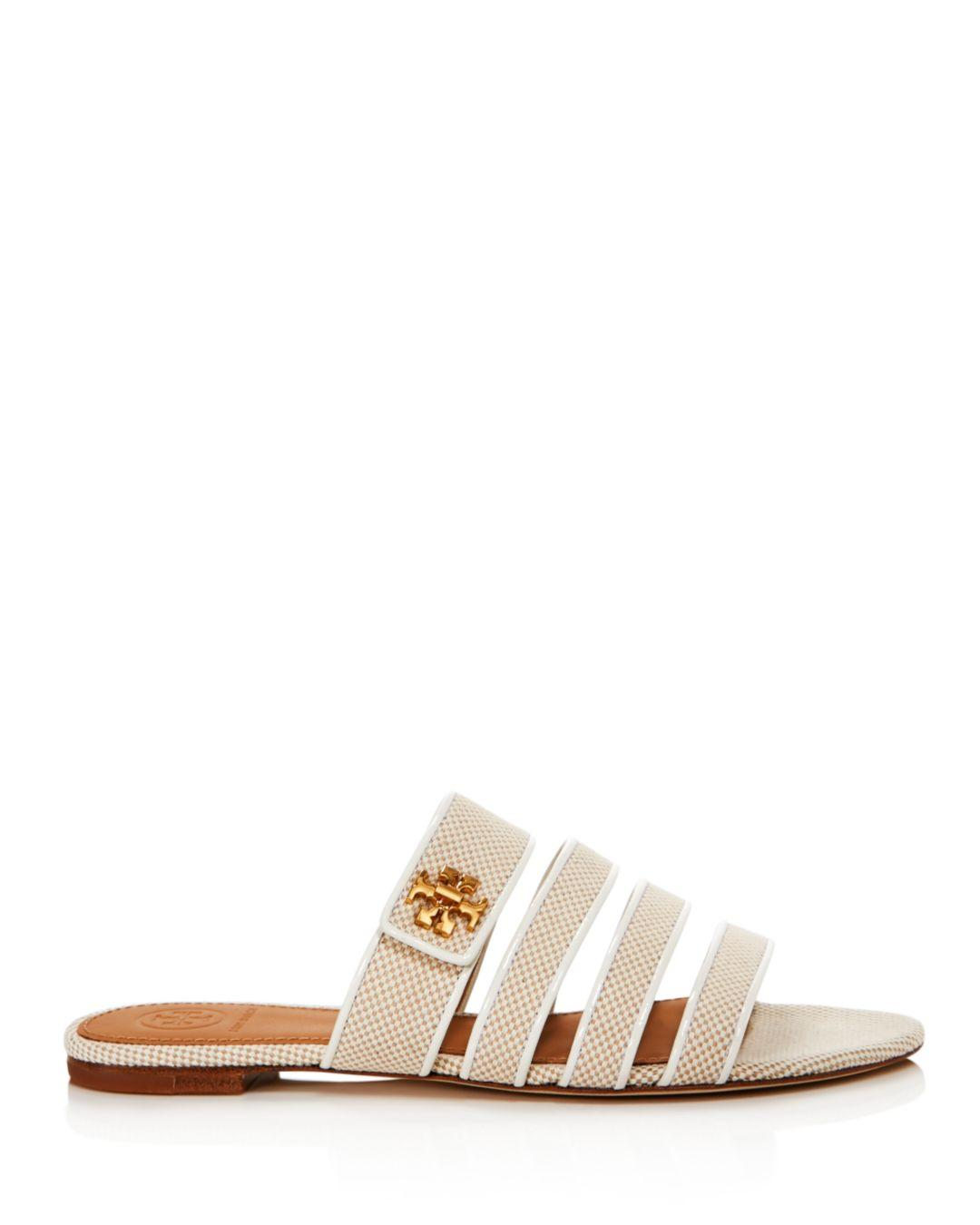 c423af486 Lyst - Tory Burch Kira Canvas Sandals in Natural