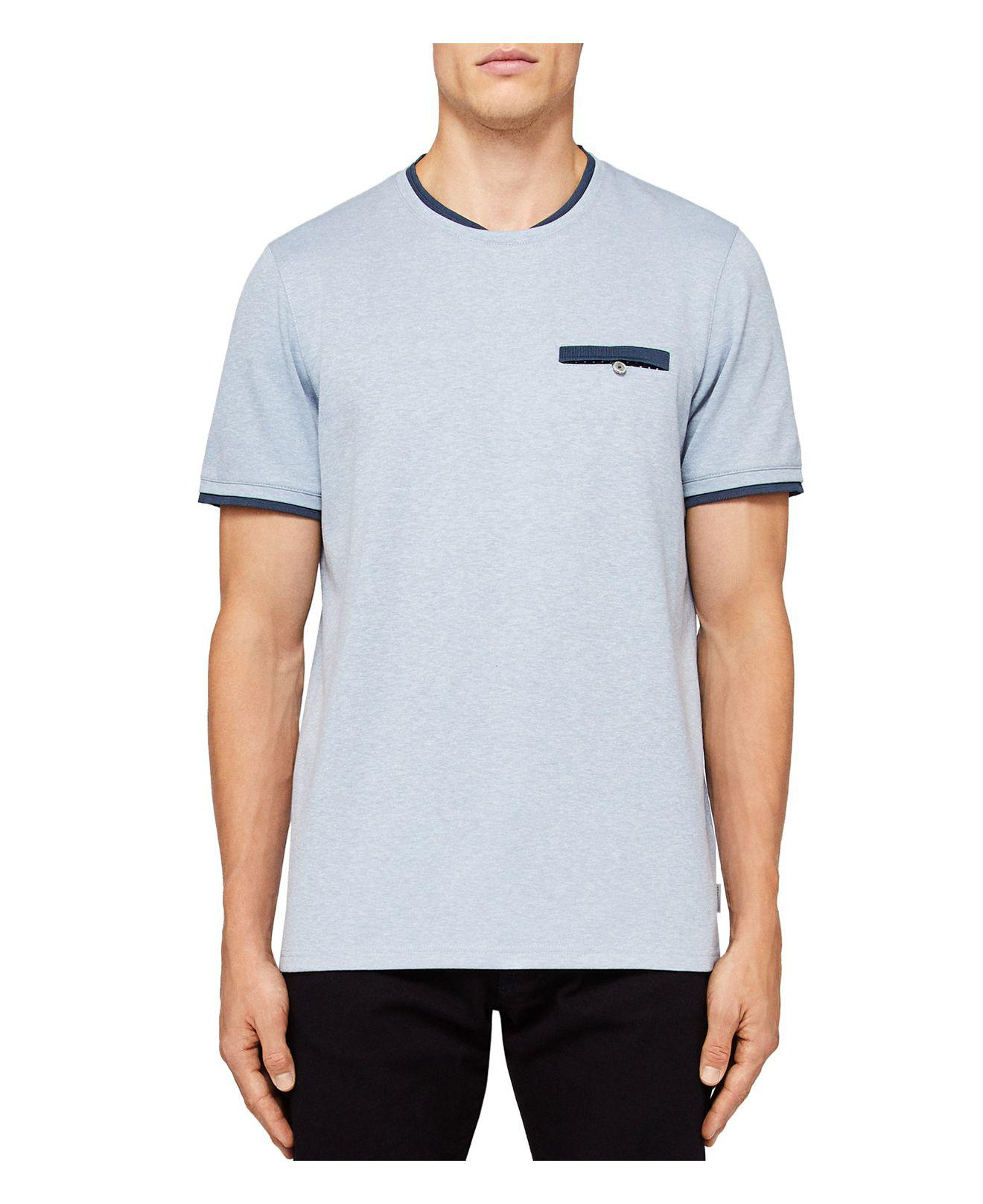 d8a8e458 Ted Baker Climb Mouline Tee in Blue for Men - Lyst