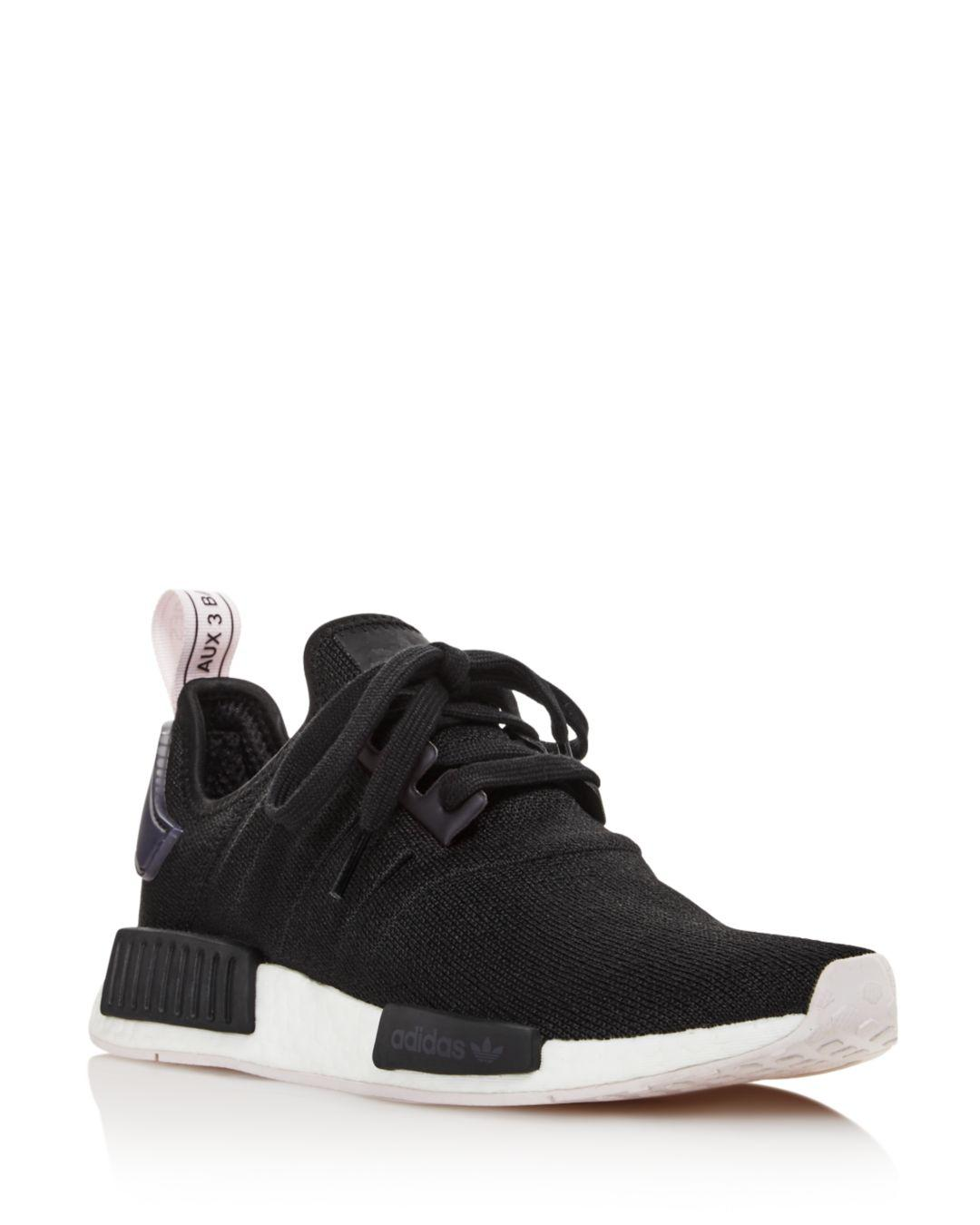 e33b6f209 Lyst - adidas Women s Nmd R1 Knit Lace Up Sneakers in Black