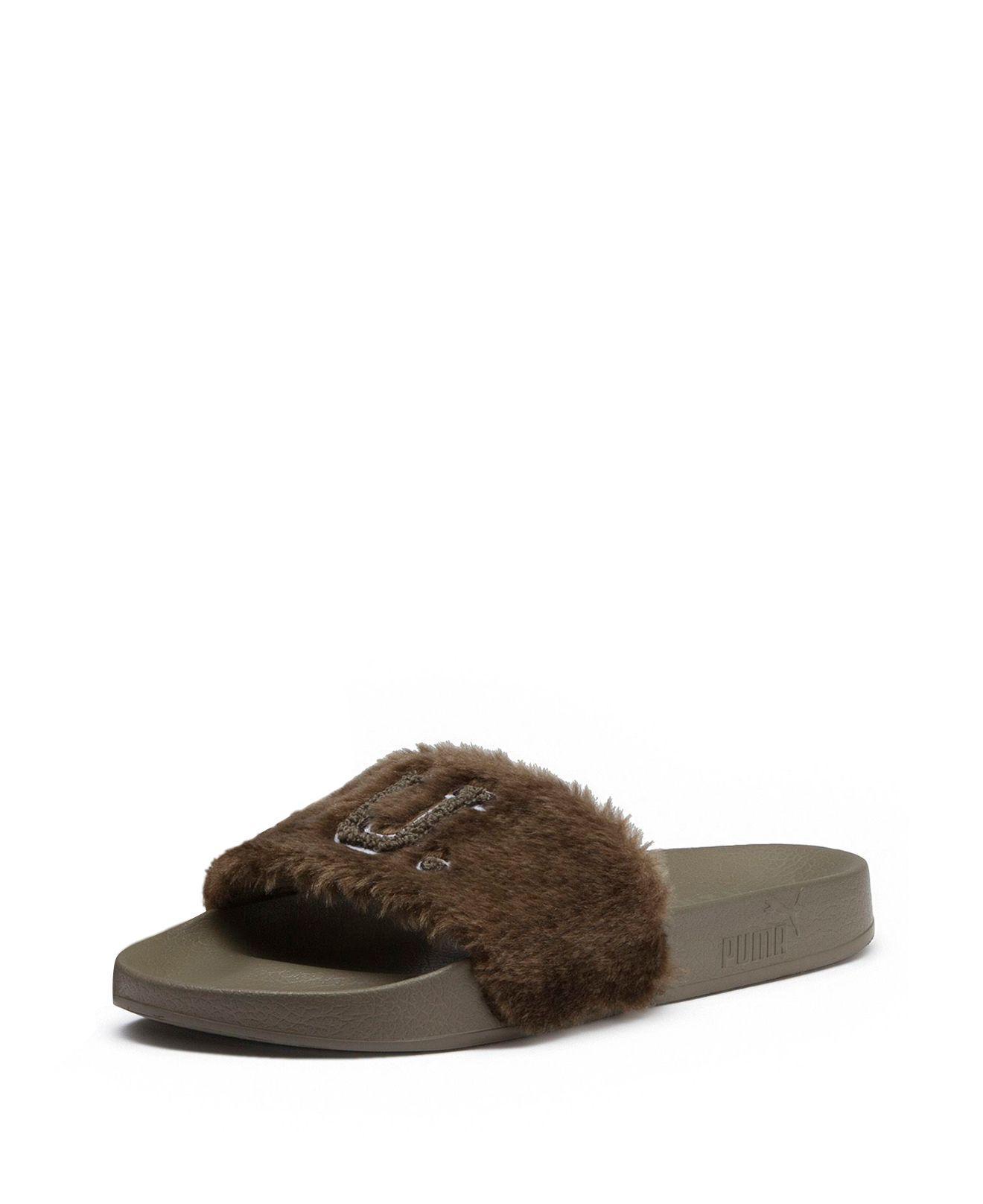 Puma Women's Faux-Fur Pool Slide Sandals FOIrqT