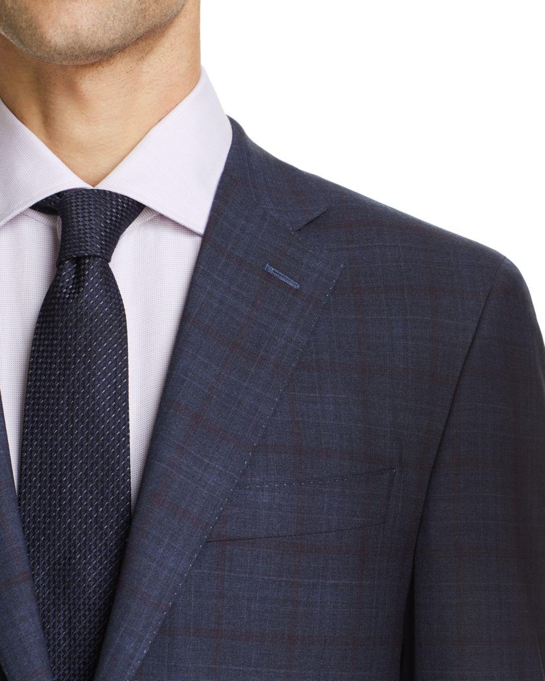 b620548002e Canali Blue Tonal Plaid Siena Classic Fit Suit for men. View fullscreen