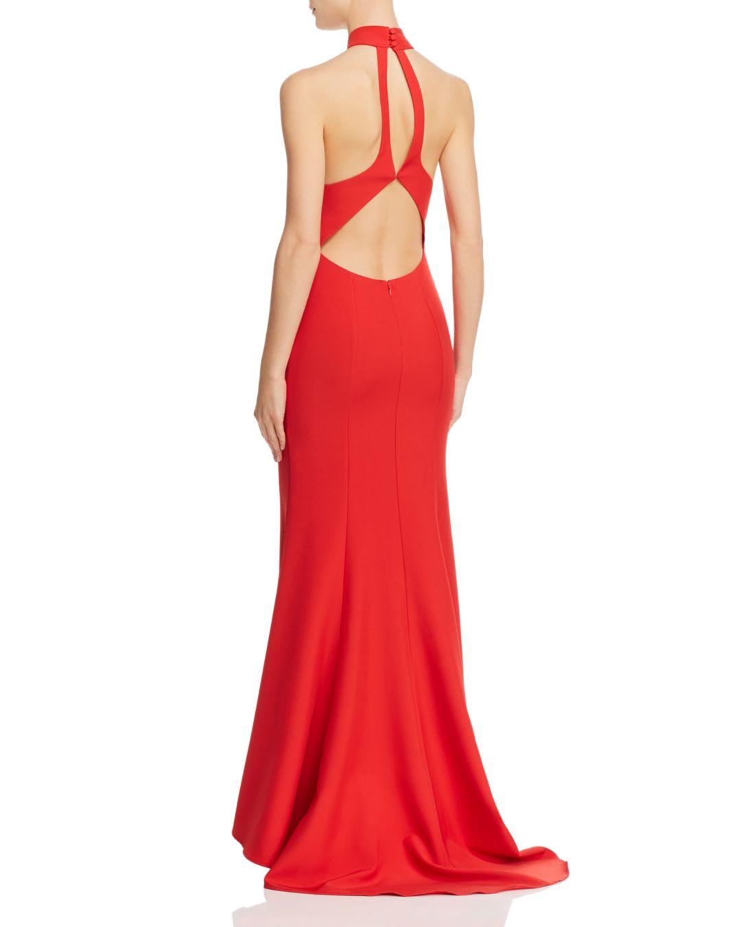 247aff8358c9 Lyst - Jarlo Tilly Halter Gown in Red