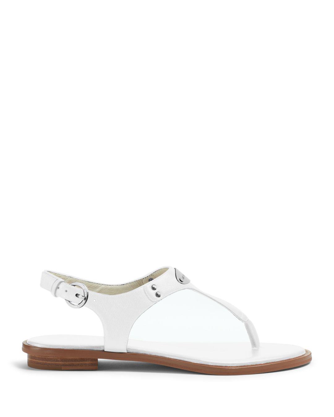 4de6bfe627b MICHAEL Michael Kors Mk Plate Thong Sandals - Lyst